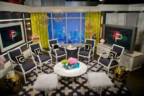 Inspired Spaces: Set of E!'s Fashion Police designed by JonathanAdler