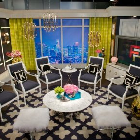 Inspired Spaces: Set of E!'s Fashion Police designed by Jonathan Adler