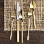 5 pc. gold flatware
